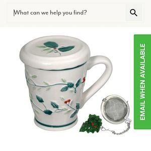 Pfalzgraff Winterberry Covered Mug Tea Infuser 10o